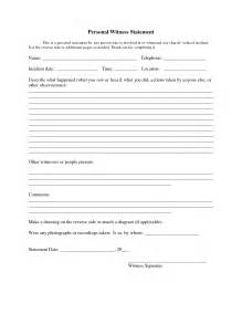 best photos of witness form template witness statement