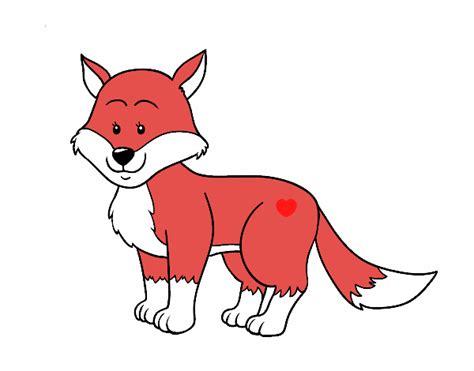 imagenes infantiles de zorros dibujo de zorra pintado por en dibujos net el d 237 a 06 05 16