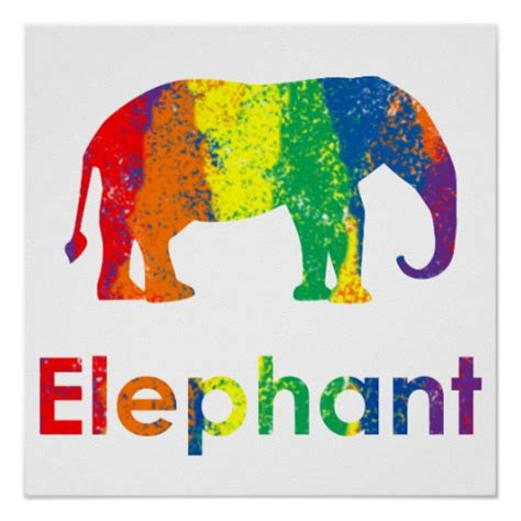 colorful posters and colorful abstract rainbow elephant poster