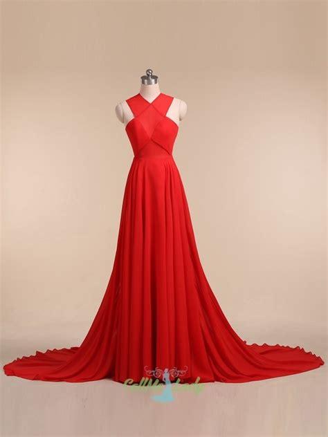 roter teppich kleider rot r 252 ckenfrei 228 rmellos lange abendkleider