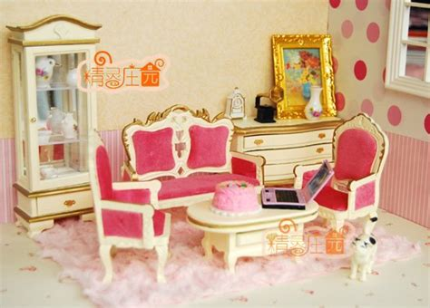 pink living room set 1 12 scale doll house furniture miniature pink living