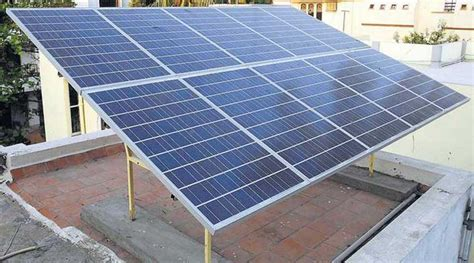 solar panel in india for home solar power side the indian express