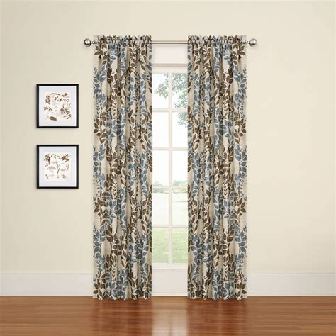 blue brown window curtains blue and brown window curtains