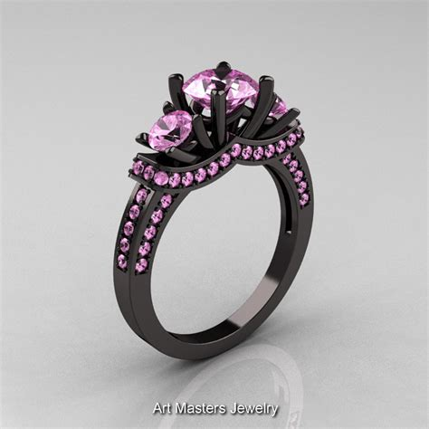 Eheringe Schwarz Gold by Black And Pink Wedding Rings Jewelry Ideas