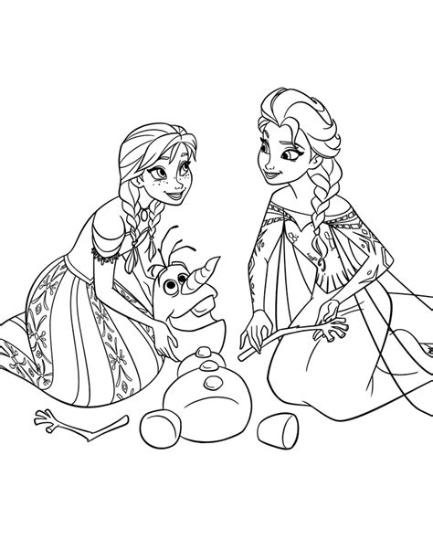 ana frozen coloring coloring pages