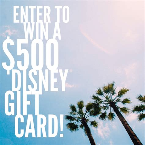 Can Disney Gift Cards Be Used At Disney World - 500 disney gift card giveaway