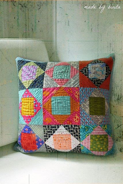 Patchwork Pillow Patterns - square in a square pillow flickr photo