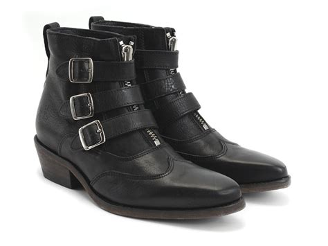 fluevog boots fluevog shoes shop jett black buckle