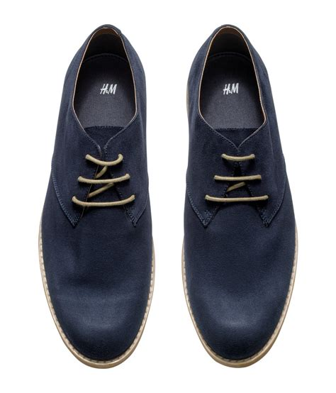 shoes h m h m derby shoes in blue for lyst