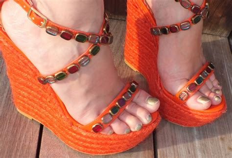 Orange Wedges By C Boutique new orange wedges v fashion world