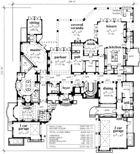 chateau floor plan from abg alpha builders