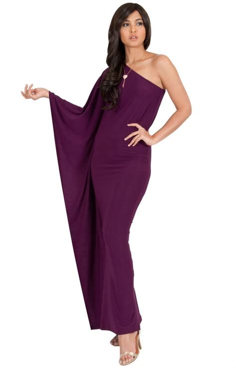 Dress Cyntia cynthia one shoulder cape sleeve cocktail maxi gowns