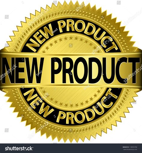 Products New new new product golden label illustration stock vector