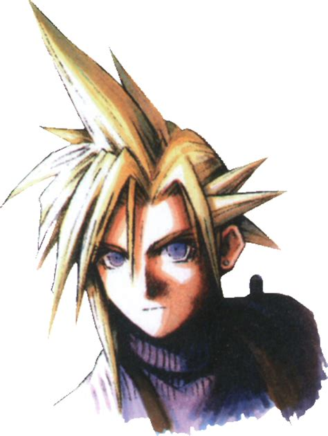 image cloud strife portrait young ffvii png