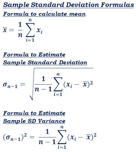 standard deviation σ calculator step by step calculation