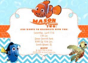Finding Nemo Invitations Template by Finding Nemo Birthday Invitation Diy Digital By Modpoddesigns