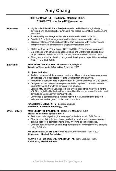 entry level it resume template entry level resume sle