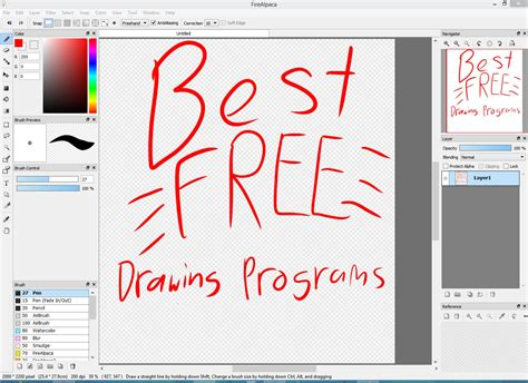free doodle software best free digital drawing programs 2016 with links
