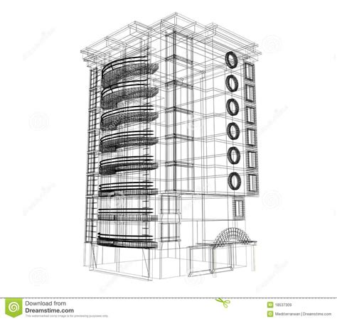 House Build Plans 3d Building Plan Stock Illustration Image Of Appartment
