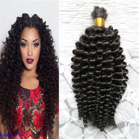 human curly hair for crotchet braiding mongolian kinky curly afro crochet braids loose curly hair