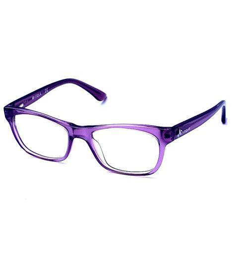 vogue designer light purple rectangle eyeglasses