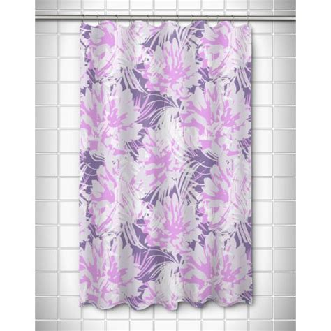 purple floral shower curtain island girl purple floral fusion shower curtain