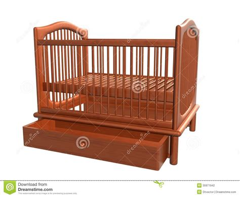 baby bed drawer open raster stock photography image