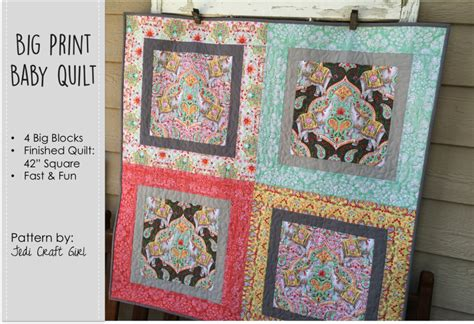 printable baby quilt patterns big print baby quilt free quilt pattern