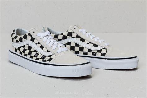 Sepatu Vans Oldskool Checkerboard Black White vans skool checkerboard white black footshop