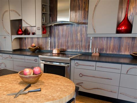 metallic kitchen backsplash metal backsplash ideas pictures tips from hgtv hgtv