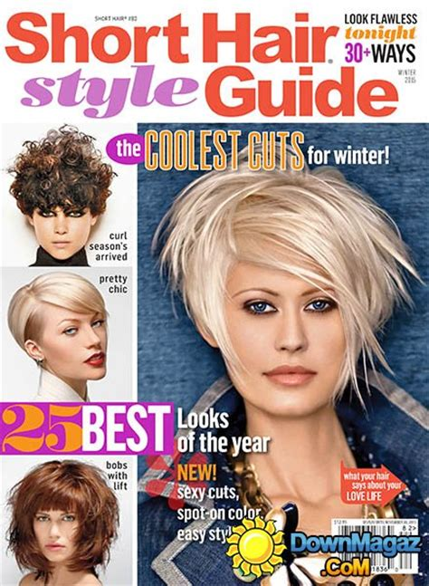 cover of short hair style guide magazine short hair style guide usa winter 2015 187 download pdf