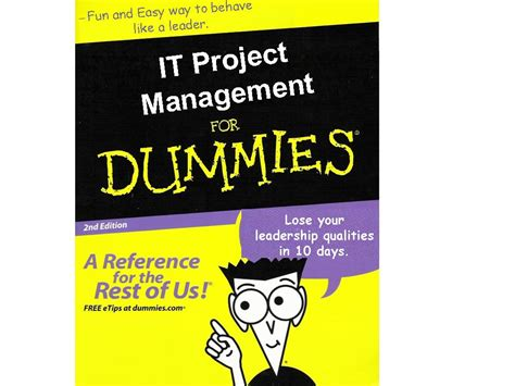 Project 2010 For Dummies leadership qualities as told by krishna pongada dei