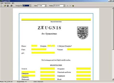 Word Vorlage Zeugnis Zeugnis Freeware Version Th 252 Ringen Freeware De