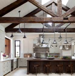 Wooden Kitchen Ideas by Ceiling With Wood Beams Kitchens With Vaulted Wood