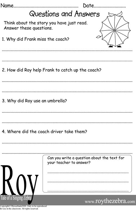 Spreadsheet Questions And Answers by Reading And Questions Worksheets Boxfirepress