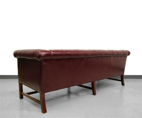 vintage style leather sofas vintage chippendale style leather chesterfield sofa at 1stdibs