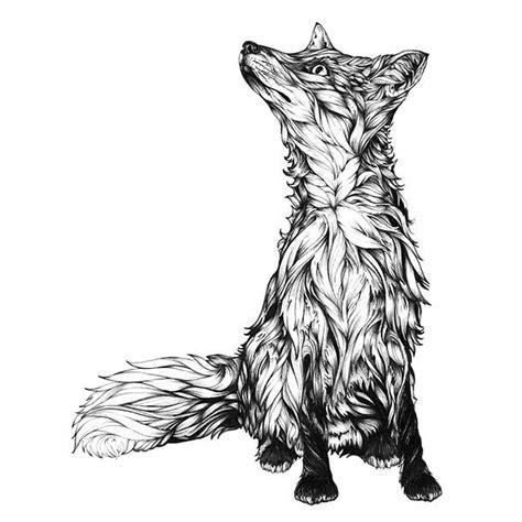 black and grey fox tattoo cute back and gray fox tattoo design
