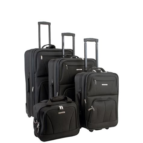 rockland 4 luggage set f32 black the home depot