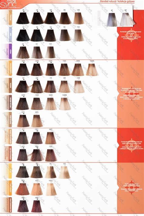 matrix hair color chart matrix color sync color chart