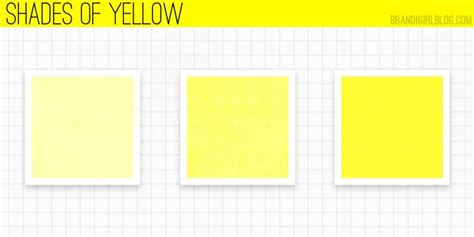 shades of yellow names using yellow shades of yellow color inspirations