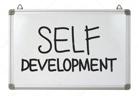 is selves a word self development word on whiteboard stock photo