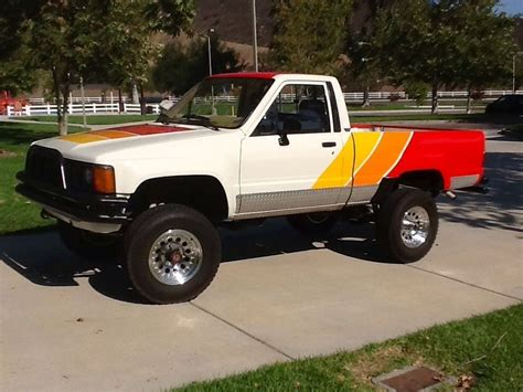 yellow toyota truck 1985 toyota other deluxe 1985 toyota pickup pinterest
