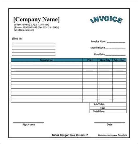 Free Invoice Template Printable Business Card Website Printable Templates Business Card Concrete Invoice Template