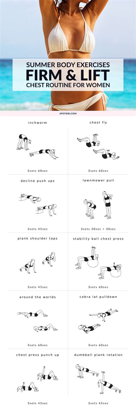 chest exercises for at home firm and lift your chest workout for