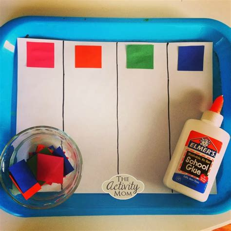 color crafts for the activity toddler color sorting craft the