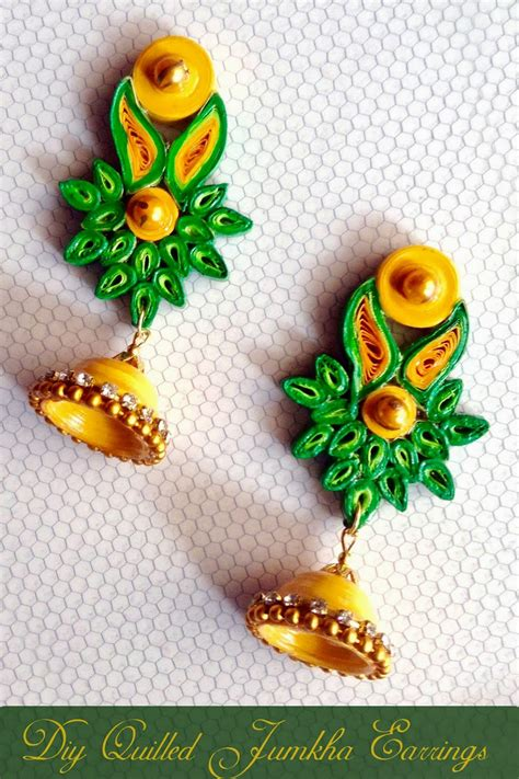 quilling jewellery tutorial for beginners paper quilling earrings for beginners www imgkid com