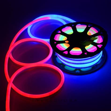 led neon flex light 50ft led flex neon rope light in outdoor wedding lighting ebay