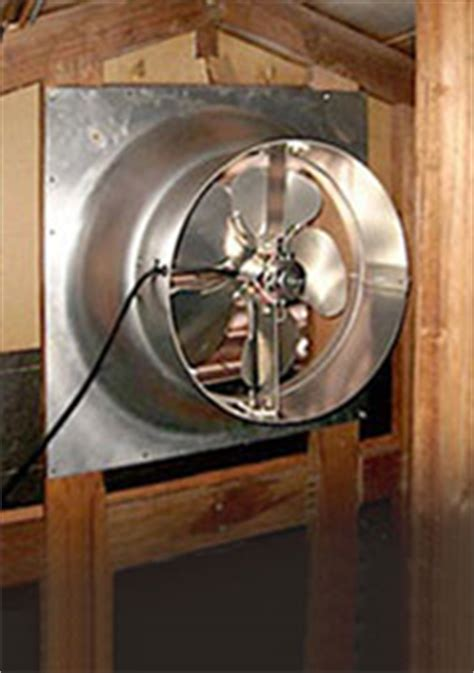 gable attic fan installation attic fans coolthatgarage com
