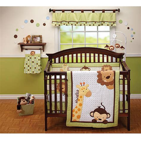 Jungle Nursery Bedding Sets Bedding By Nojo Jungle Pals 3pc Crib Bedding Set Value Bundle Walmart