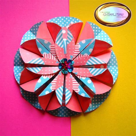 Origami Scrapbook - origami maniacs scrapbook and origami flower dahlia